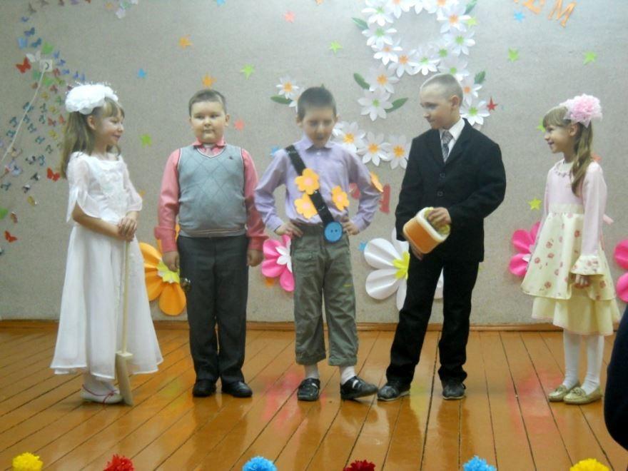 8 Марта начальная школа, поздравление
