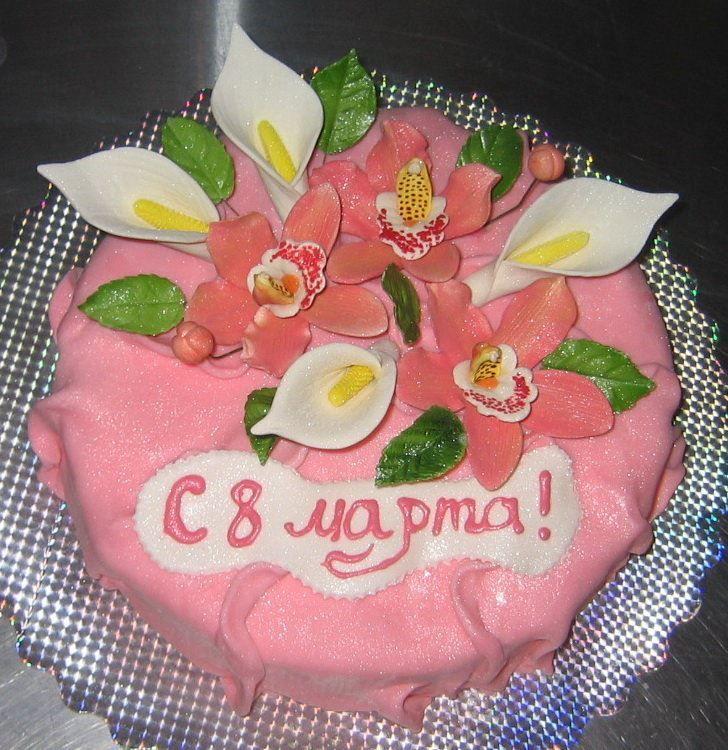 Картинка торта на 8 Марта