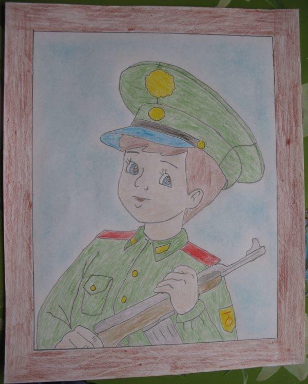 Детские рисунки на 23 февраля