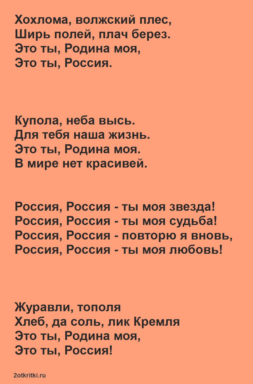 Песни к 23 февраля для детей - Россия, ты моя звезда