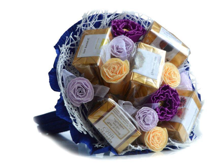 Подарок женщине на день рождения - чайный букет