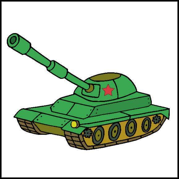 Картинка танк для детей на 23 февраля
