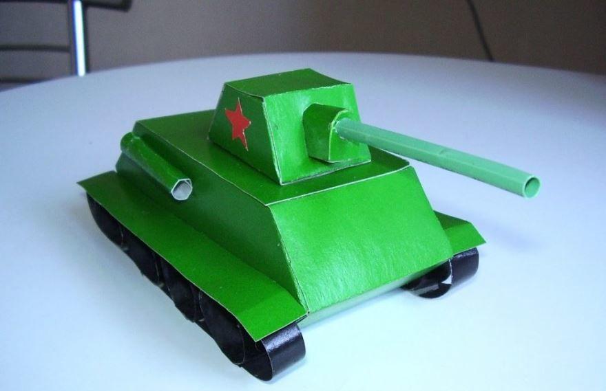 Сделать танк на 23 февраля, своими руками
