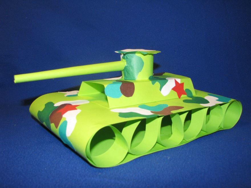 Детский танк на 23 февраля, своими руками