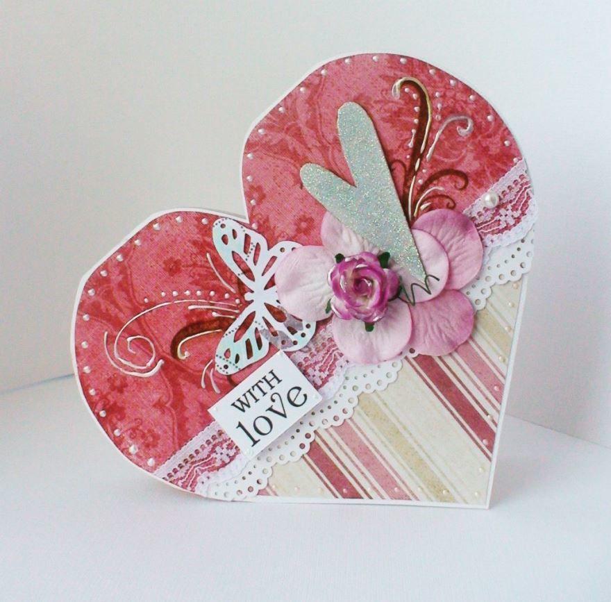 Скачать открытку с днем Святого Валентина, своими руками