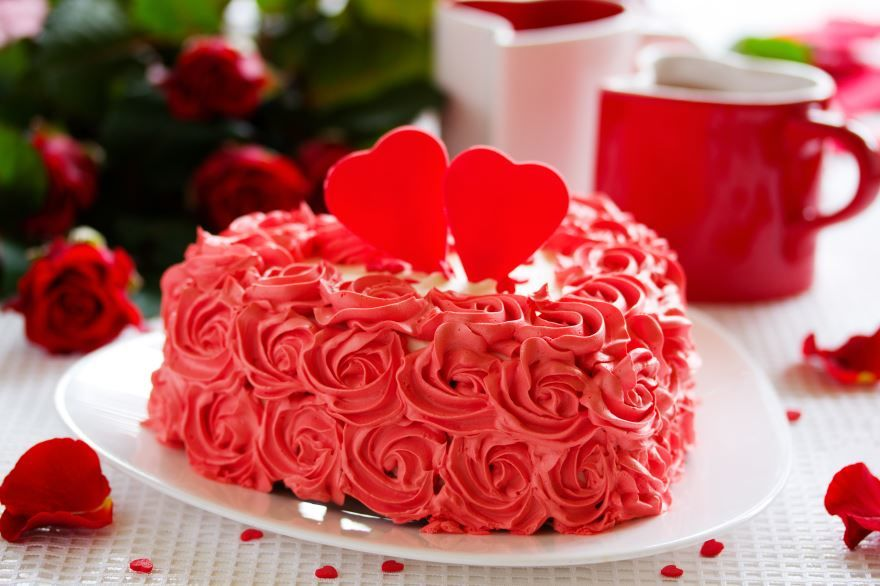 Торт на день Святого Валентина, фото