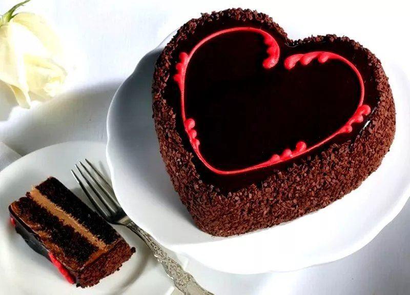 Торт любимому на день Святого Валентина, своими руками