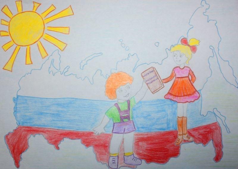 Рисунок ко дню России, в детском саду