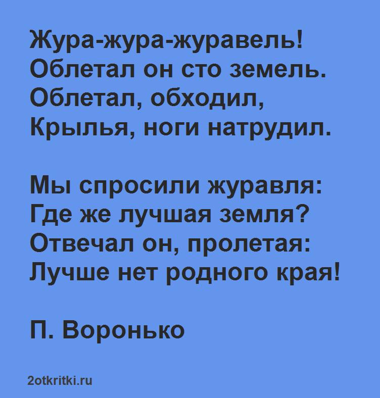 Стих про день России - Жура-жура-журавель