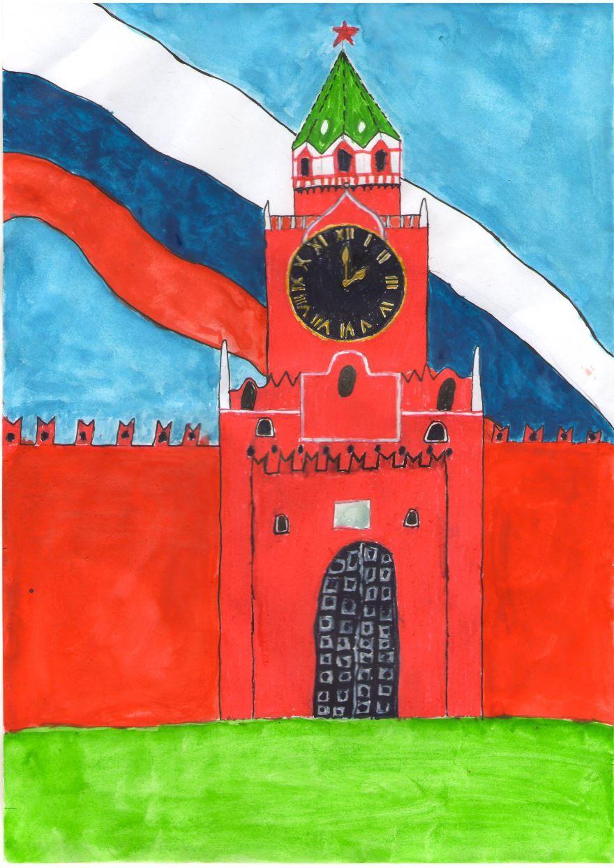 Рисунки ко дню России для детей