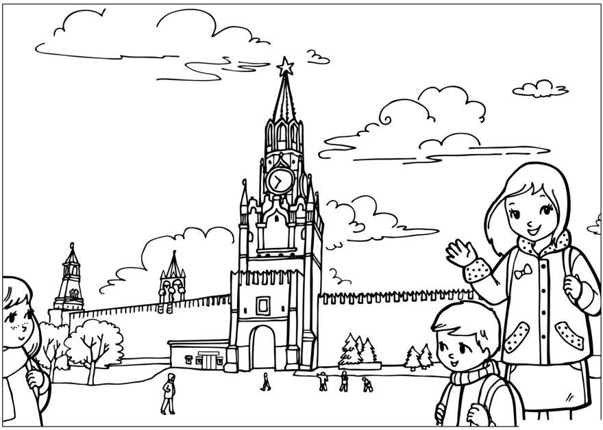 День России, раскраски для детей