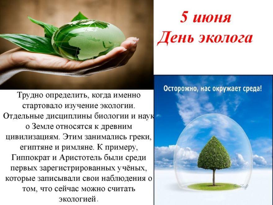 5 июня - день эколога, прикольная открытка
