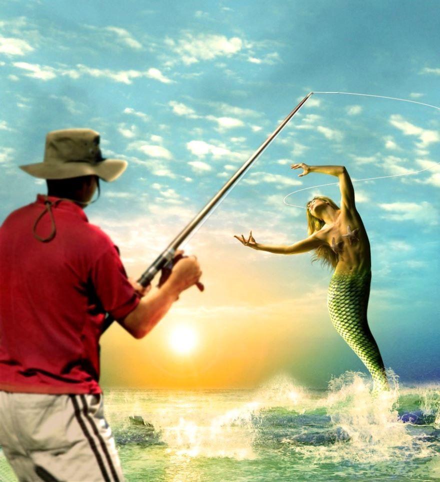День рыбака, прикольная картинка