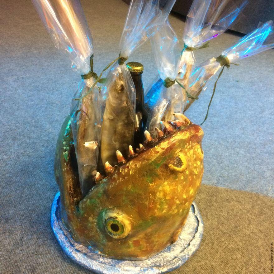 Подарок рыбаку на день рождения, своими руками