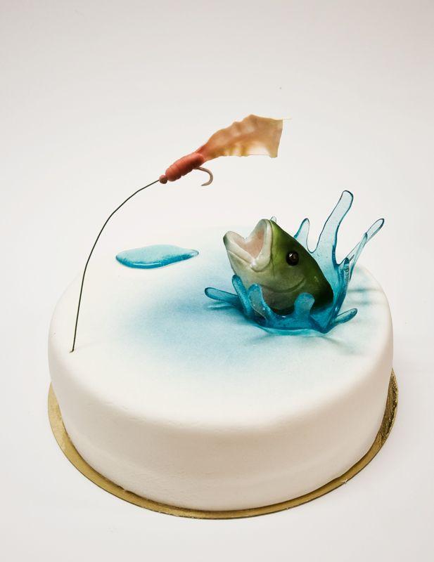 Торт на день рыбака