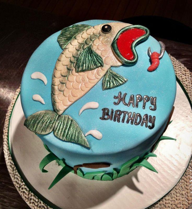 Торт рыбаку на день рождения