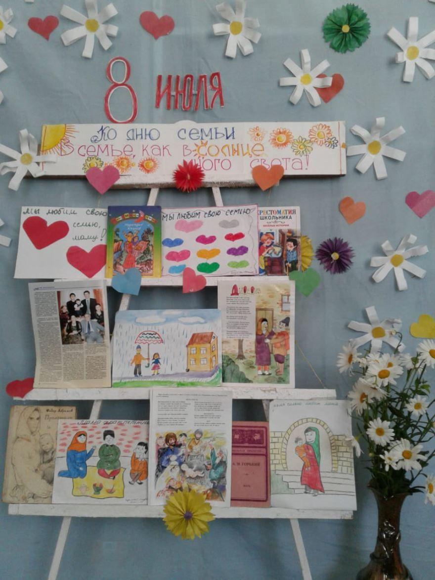 Рисунки день семьи, любви и верности в доу