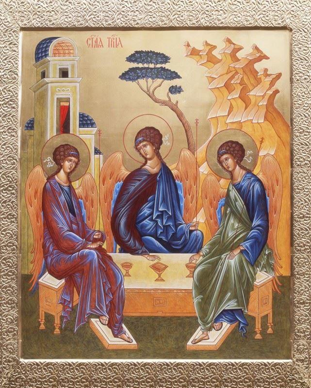 Скачать красивую открытку с днем Святой Троицы, бесплатно