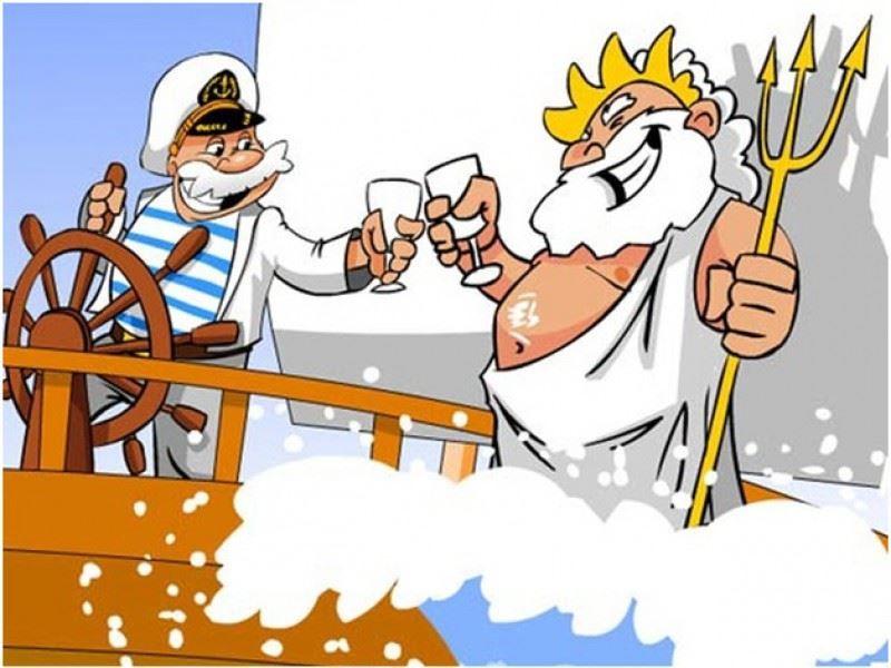 Прикольная открытка с днем моряка, бесплатно