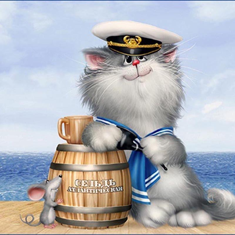 Красивая, прикольная картинка с днем моряка - 25 июня