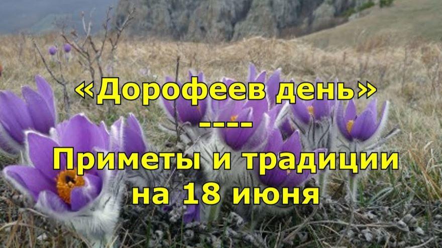 18 июня праздник в России - Дорофеев день