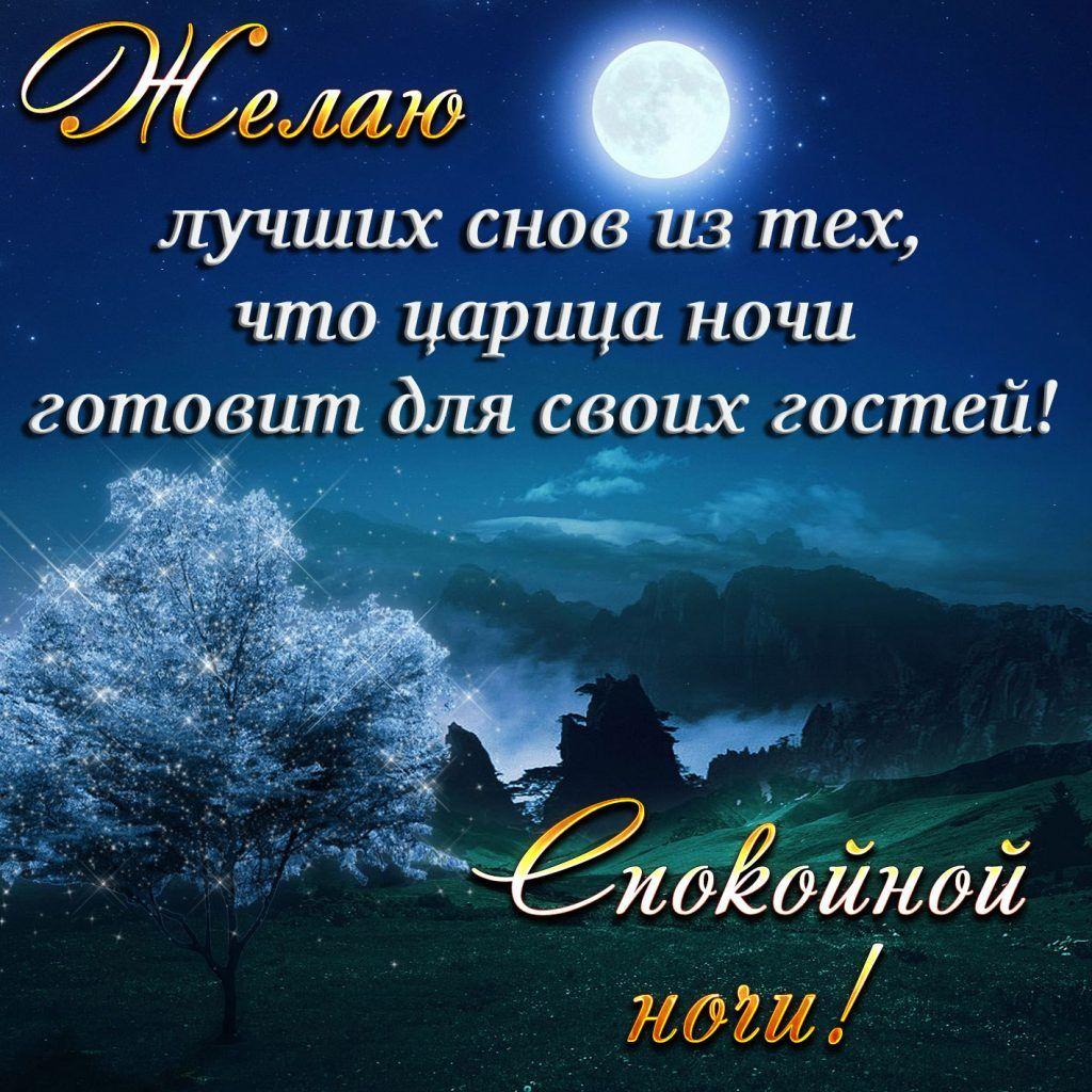 Спокойной ночи прозе пожелание красивое мужчине девушке