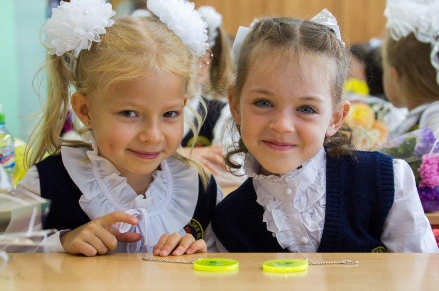 Девочки на 1 сентября 1 класс в школе