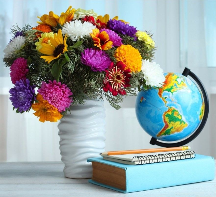 Учителю на 1 сентября подарок букет цветы фото