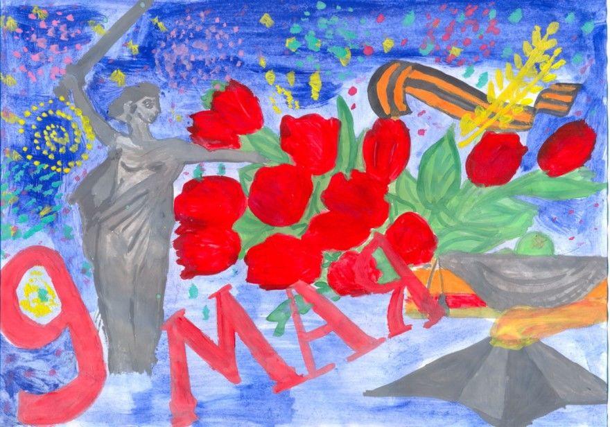Рисунки на 9 мая детские своими руками