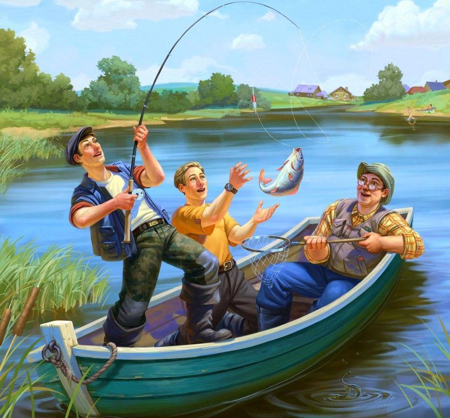 День рыбака 2019 какого числа картинки открытки