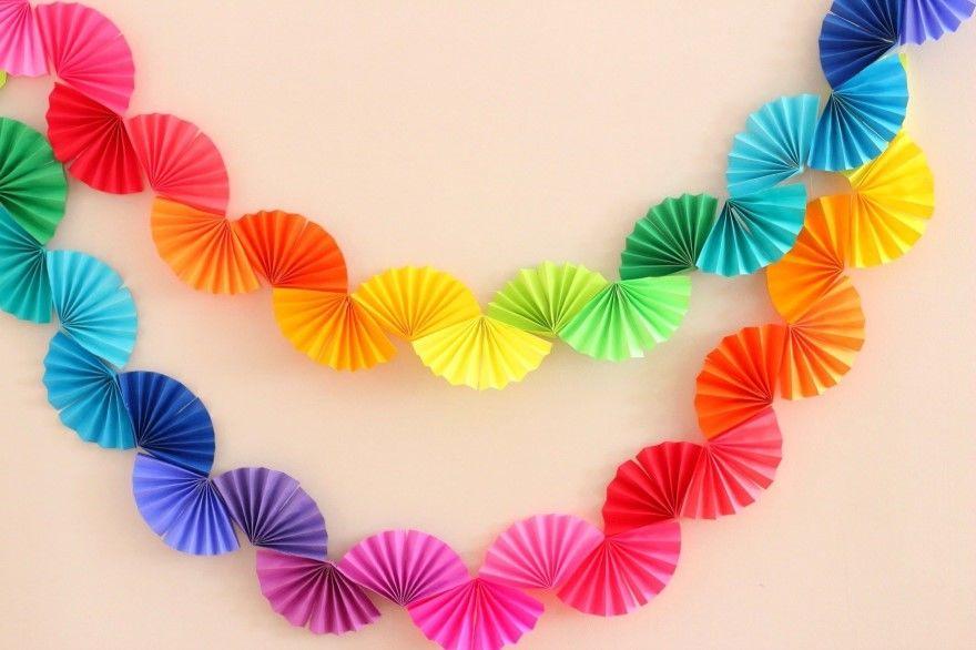 Как сделать гирлянду на Новый год бумаги
