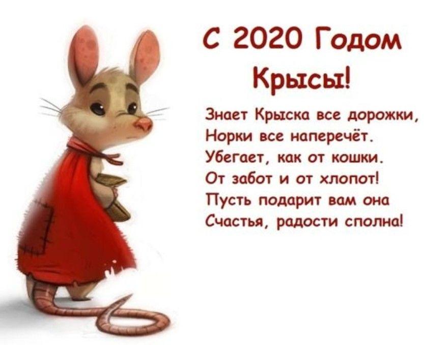Стихи Новый год для детей про мышей