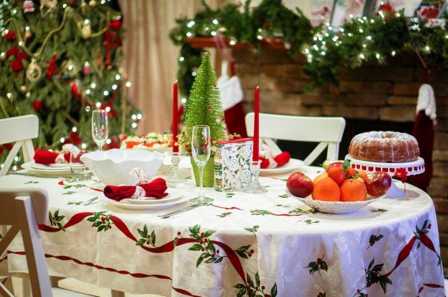 Украшение Новогоднего стола идеи фото праздничного