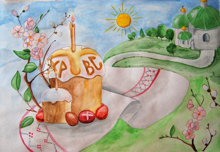 Рисунок на пасху карандашом для детей