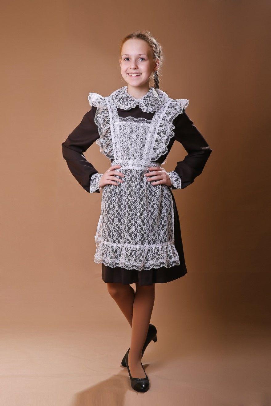 Платье 11 класс с фартуком на последний звонок