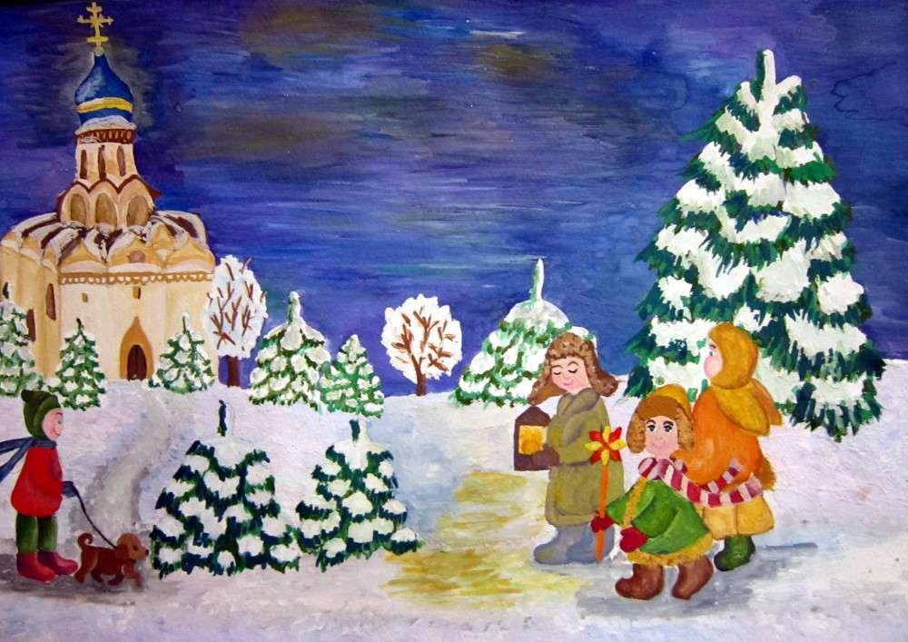Рисунки Рождество Христово детские карандашом 5 класс